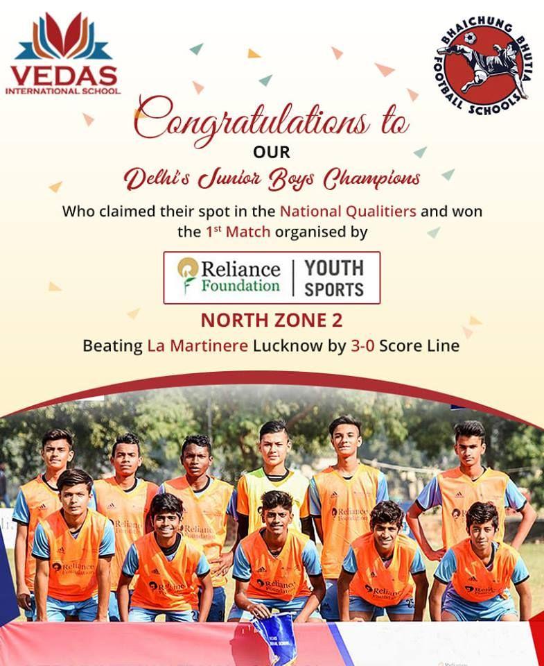 Vedas International School in association with BBFS congratulates