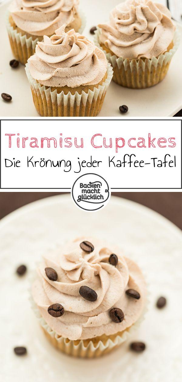 Tiramisu Cupcakes mit Mascarpone | Backen macht glücklich