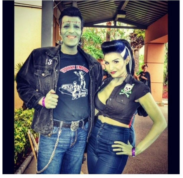 Rockabilly frankenstein halloween costume google search lots of inspiration diy makeup tutorials and all accessories you need to create your own diy frankenstein costume for halloween solutioingenieria Gallery