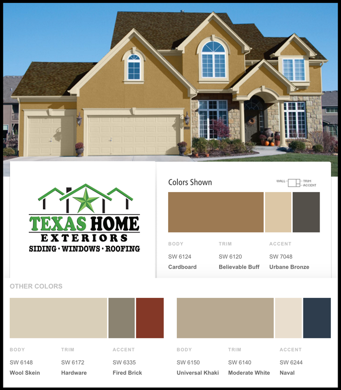 Great Color Ideas With A Variety Of Choices For Exterior