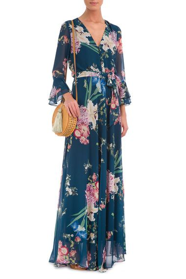 AMISSIMA - Vestido Longo Floral Psicodelic - Azul - OQVestir