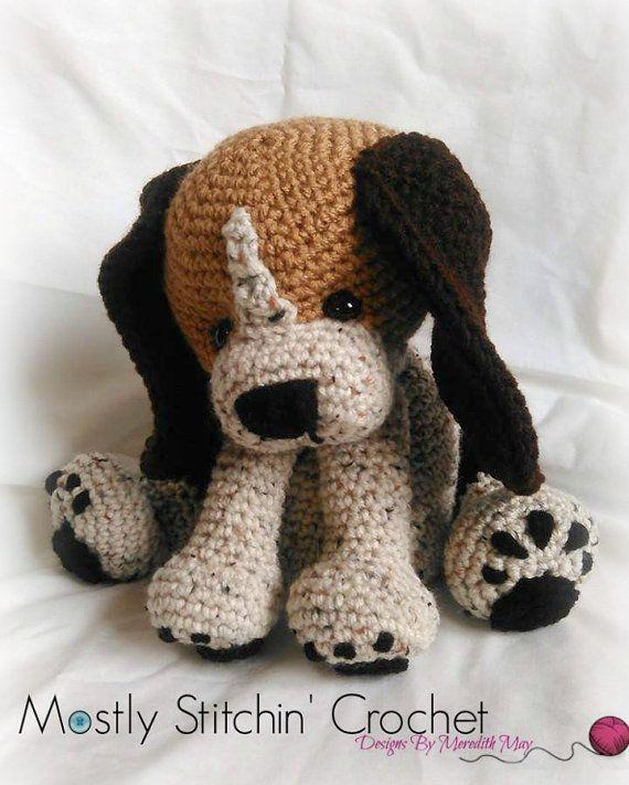 Rusty the Beagle Pup; CROCHET PATTERN; PFD | Häkeltiere, Hund häkeln ...