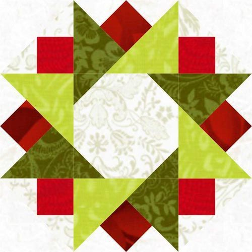 Twinkling Star Quilt Block Star Quilt Blocks Star Quilts And