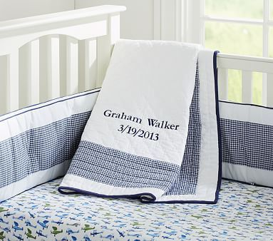 Gingham Nursery Bedding Pbkids
