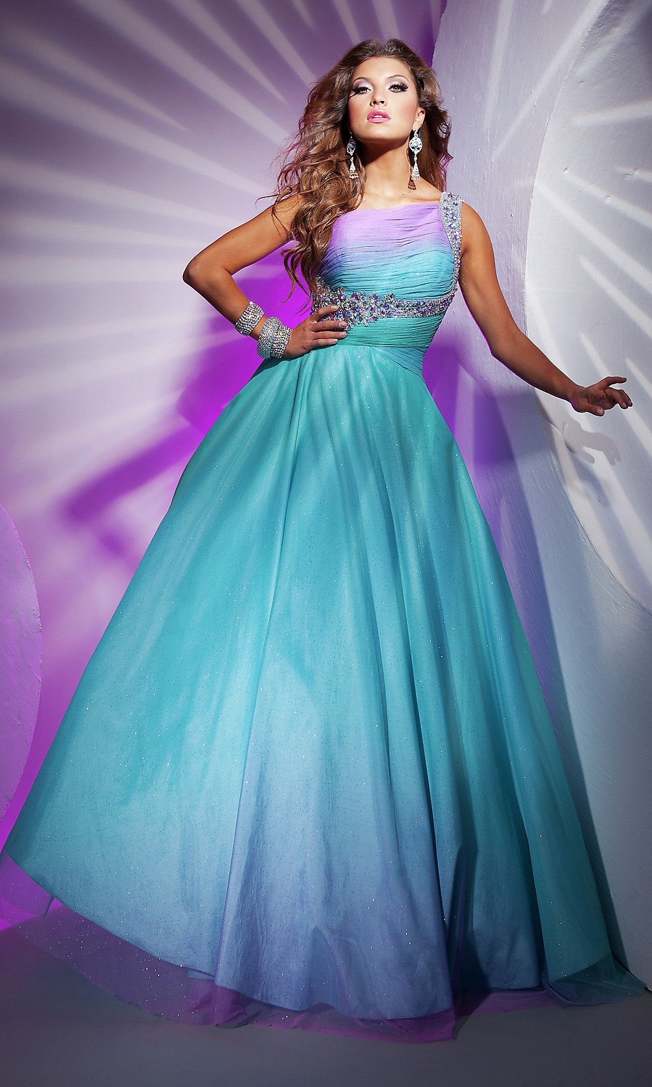 Love the dreamy purple with the bright blue. | Formal | Pinterest ...