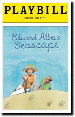 Playbill Cover for Seascape at Booth Theatre - Opening Night, Nov 2005