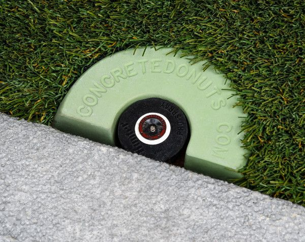 Half Donut Sprinkler Head Protector For Those Sprinklers That Are Too Close To The Driveway Sidewalk Sprinkler System Diy Landscape Design Plans Patio Edging