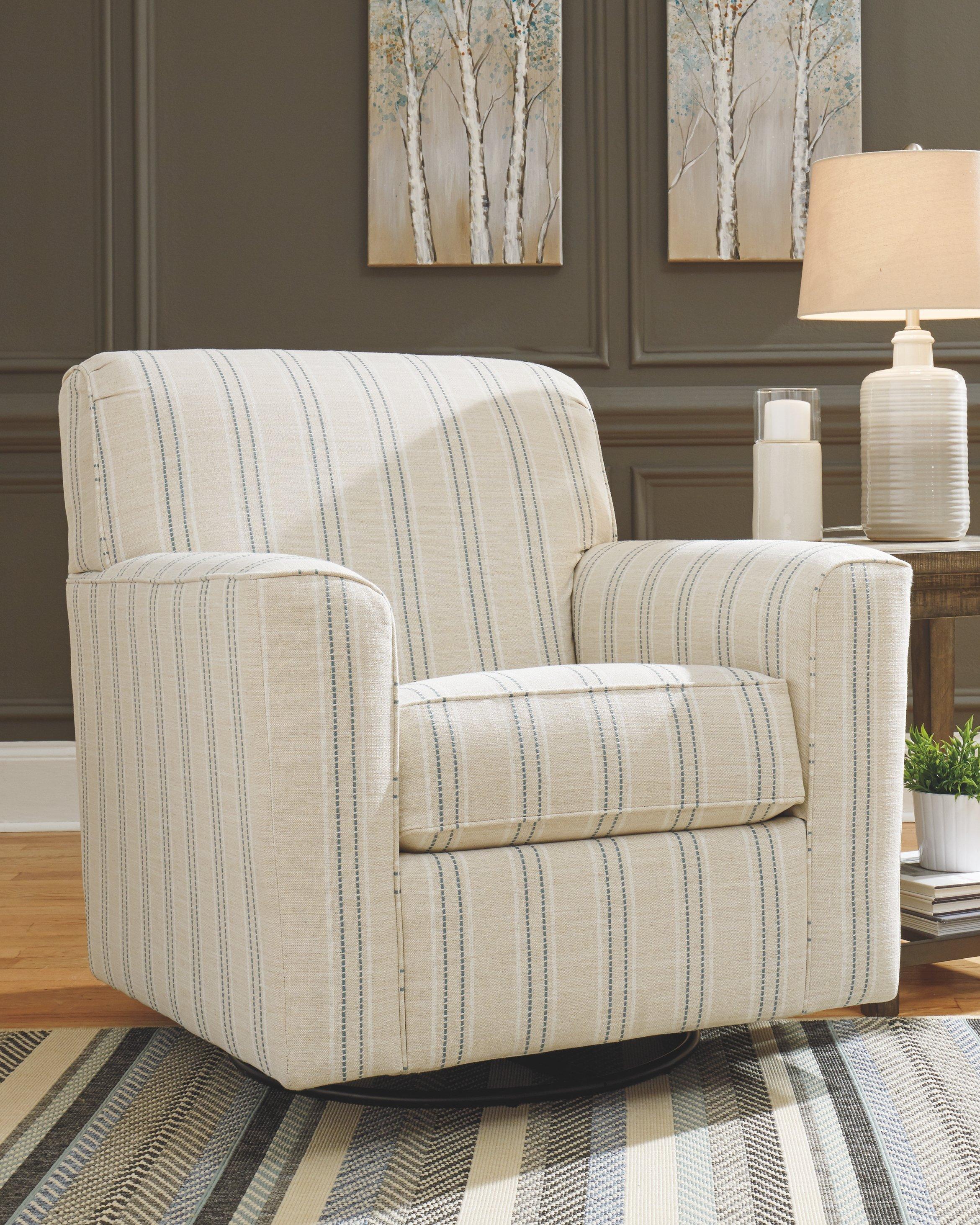Best Alandari Stripe Swivel Accent Chair Accent Chairs Chair 400 x 300