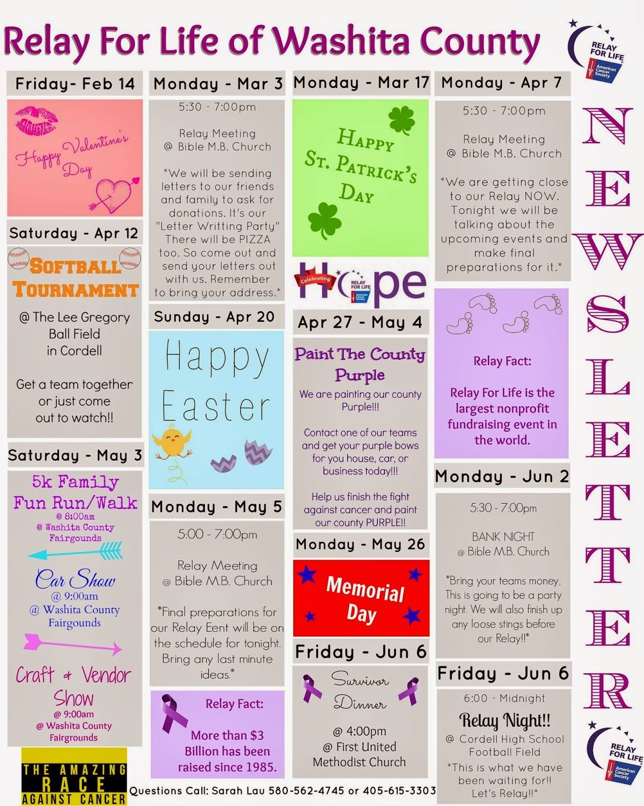 Cassi Selby Relay For Life Fundraising And Event Calendar  Relay