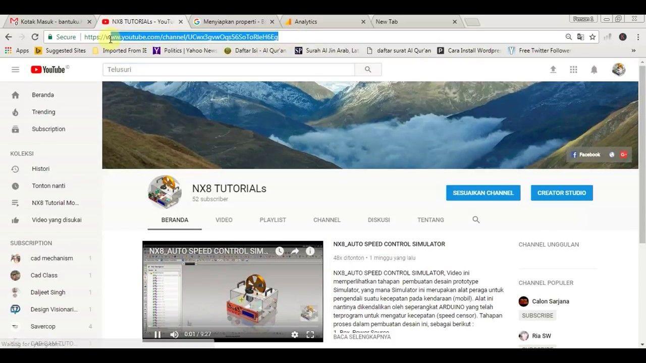 Cara Membuat ID Chanel Youtube Baru Dalam Satu Akun