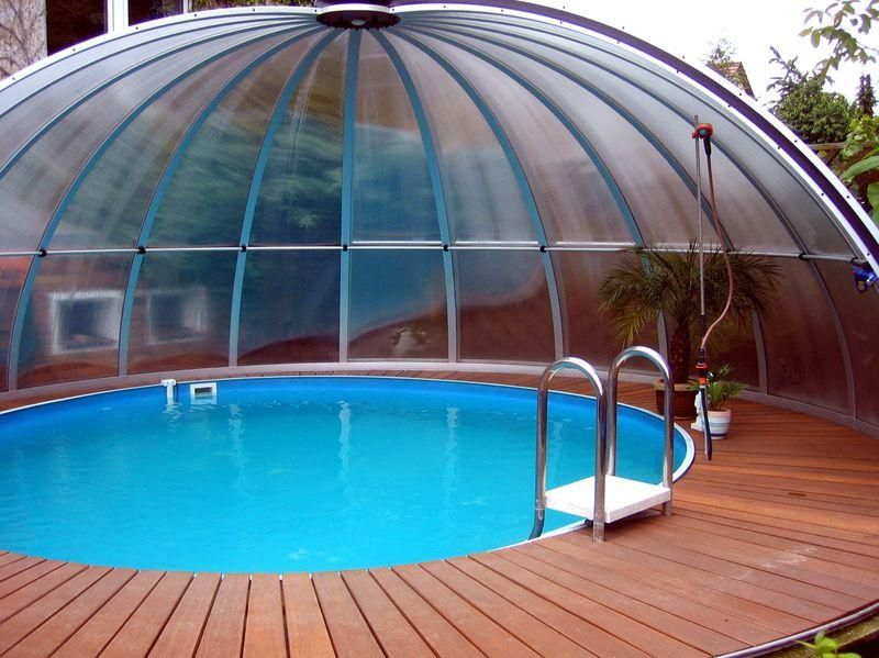 Roud Pool Covered By Our Swimming Pool Enclosure Orient Pool Enclosures Swimming Pool Enclosures Pool