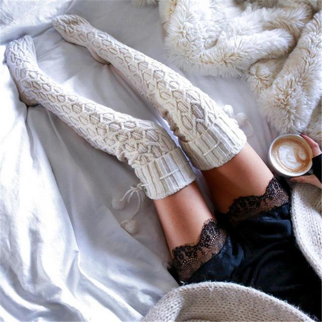 d9c94f0deb3 Cozy Knit Thigh High Stockings or Socks! Perfect for winter warm cozy  aesthetic. So Kawaii Babe! 100% FREE Shipping Worldwide. No Taxes. No  Shipping Fees.