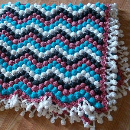 Dizzy Bobble Blanket - Free Pattern   crochet goodies   Pinterest ...