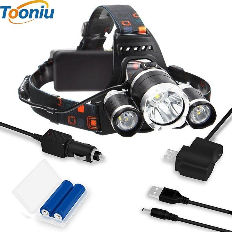 8000LM 2X XM-L T6 LED Headlamp Head Light Rechargeable USB+2x 18650 Battery NEW