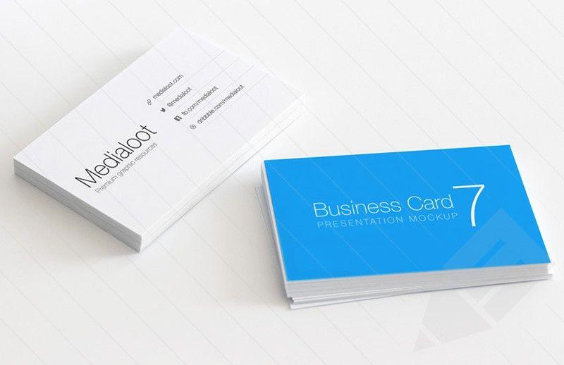 Business Card Mockup Vol 7 Business Card Mock Up Business