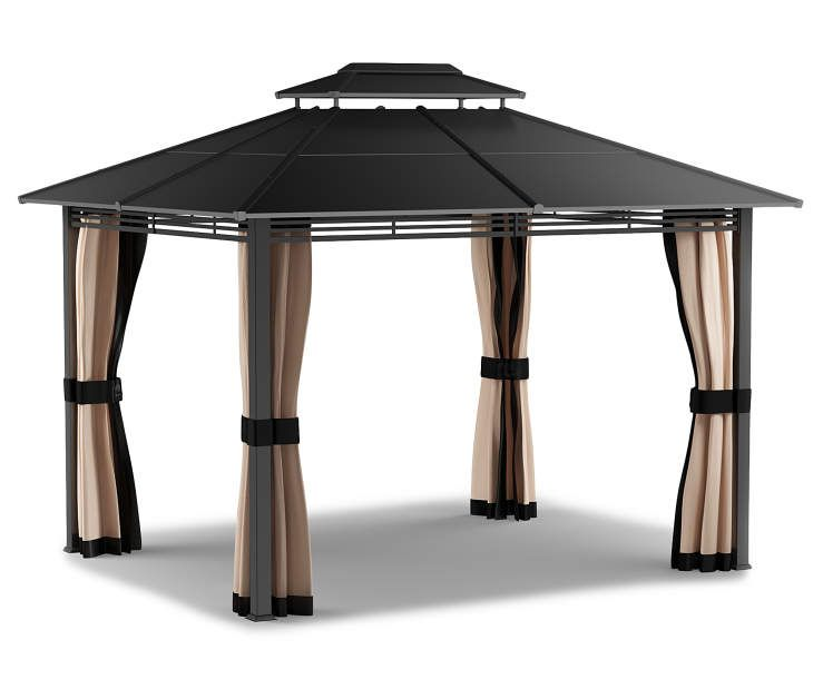 Lakewood Hard Top Gazebo 10 X 12 Big Lots In 2020 Gazebo Big Lots Gazebo Patio Seating Sets