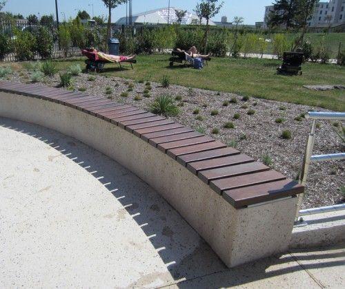 Guyon mobilier urbain banc et assise bois block99 99f exteriores pinterest - Mobilier urbain banc bois ...