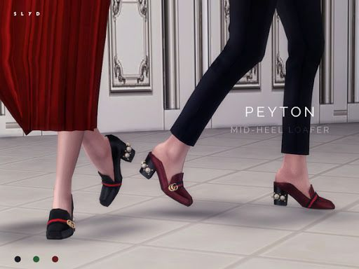 d2efb3dccda The Sims Resource  Mid heel Loafer PEYTON by SLYD