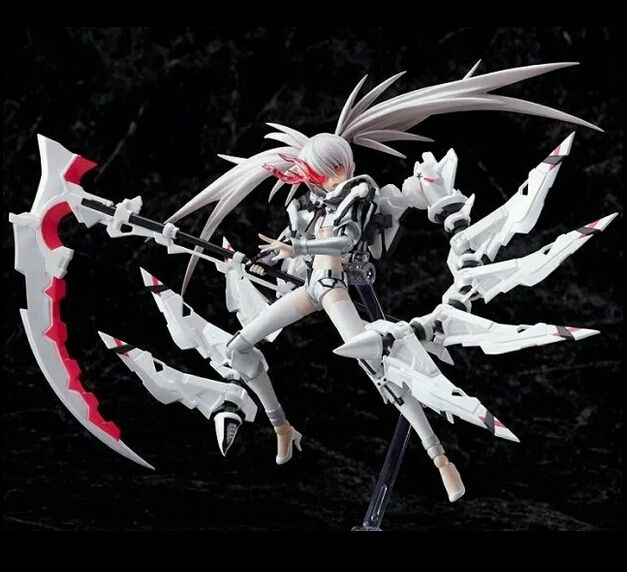 """BLACK ROCK SHOOTER White Rock Shooter Action Figure Model Movable Toy 12/"""""""