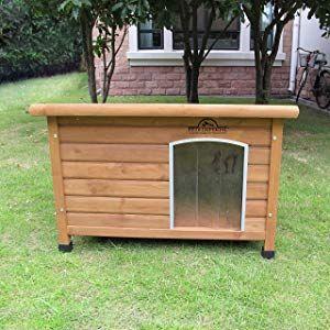 Größe Medium, isolierte Norfolk Hundehütte aus Holz mit