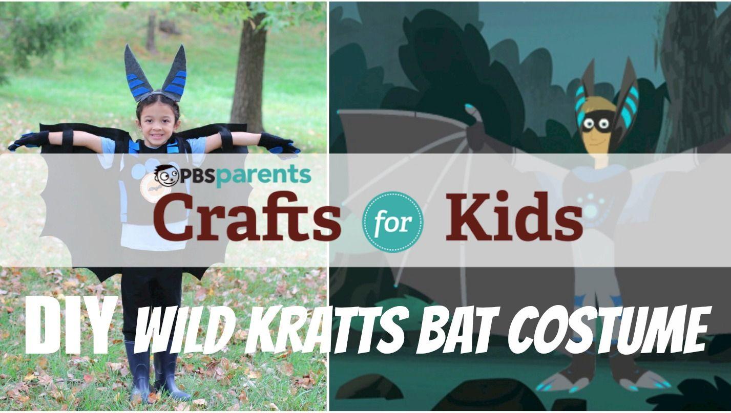 Watch Now Crafts For Kids No Sew Wild Kratts Bat Costume Pbs Video Wild Kratts Wild Kratts Costume Bat Costume