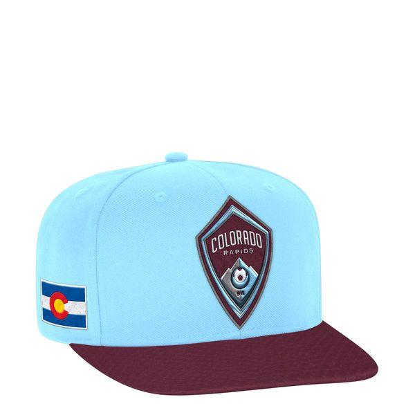 sale retailer 53512 fca75 ... reduced mens colorado rapids adidas light blue maroon jersey hook  flatbrim snapback adjustable hat bda7a 8e63e