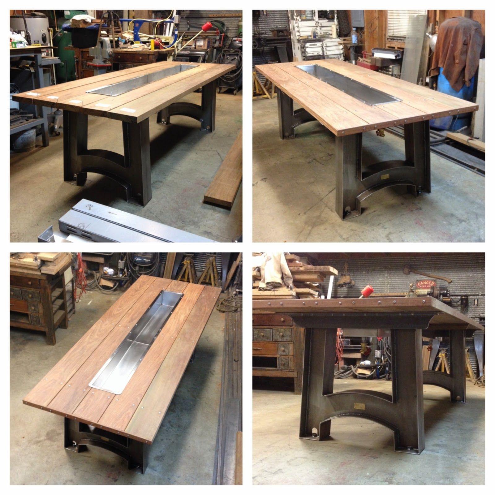 Black Falcon Fabrication Custom Built This Trough Table. Fabricated Steel  Legs, An Ipe Hardwood