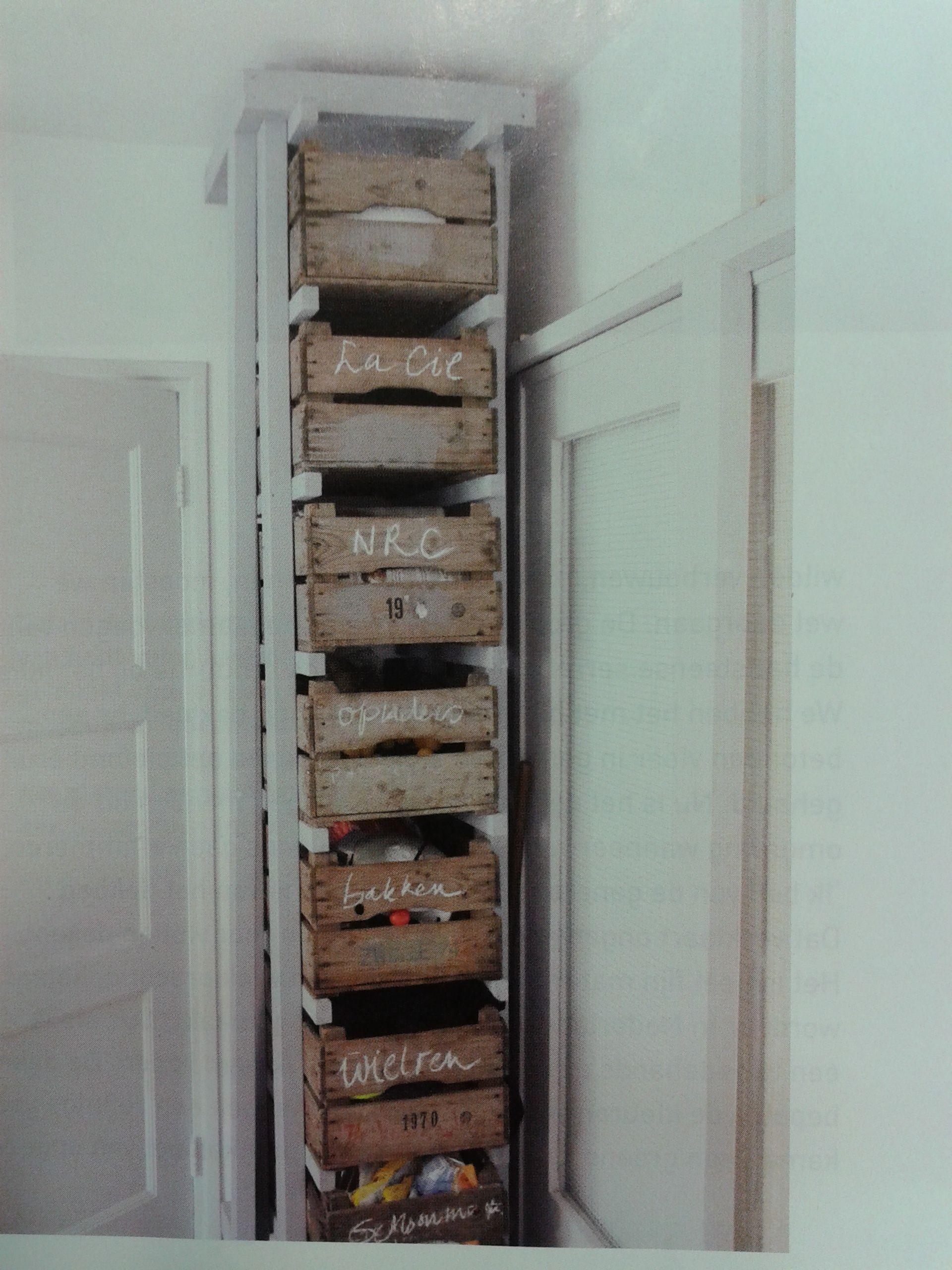 Kistjes Kast Op De Kop Miniatuur Keuken Houten Kratten