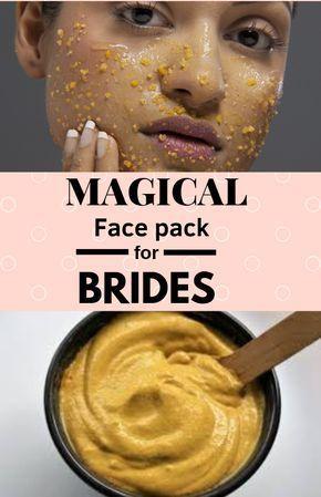 Bridal face mask with gram flour