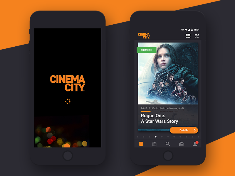 Cinema City App Concept MOVIE SCREEN