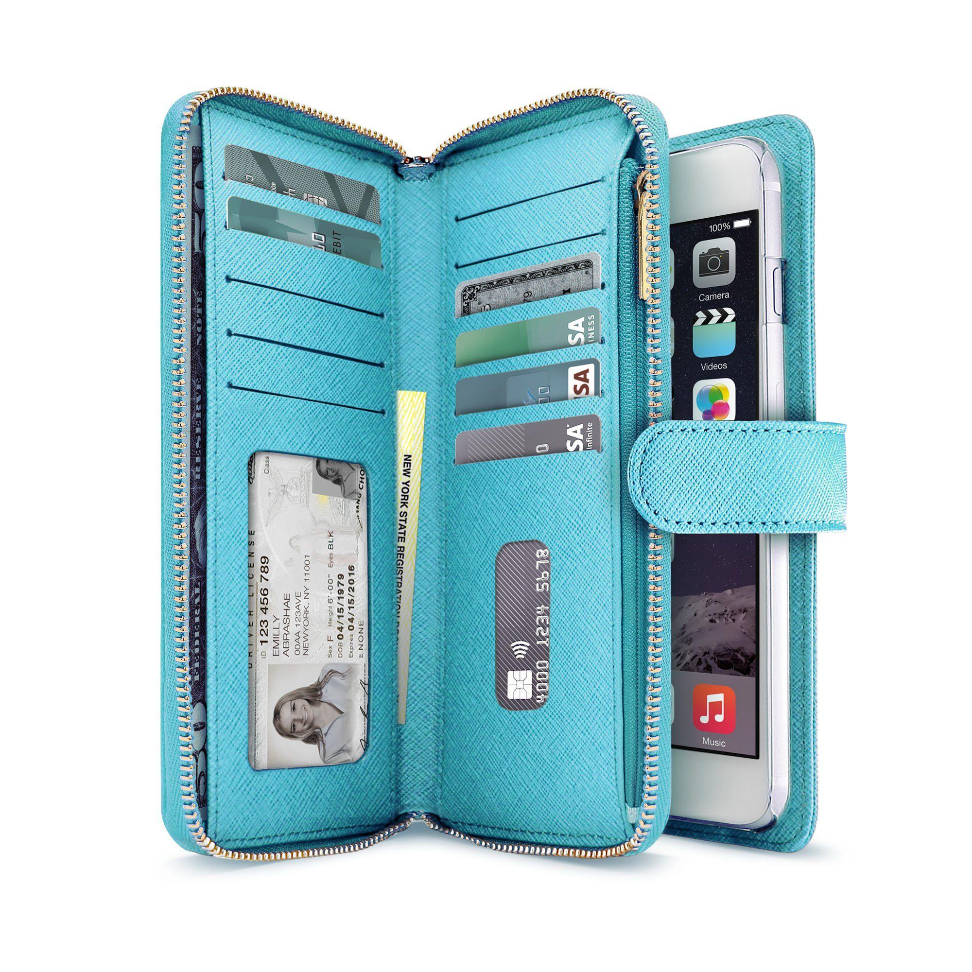 Fancy leather iphone 66s 66s plus wallet wristlet