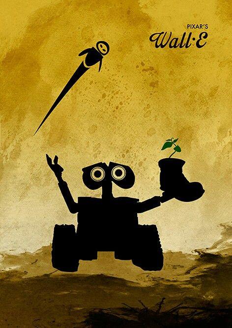 Walt Disney Pixar Wall E Minimalist Movie Poster / 225 gr Glossy ...