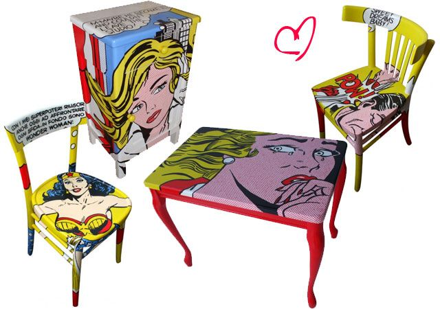 Art pop nos m veis arte que me gusta pinterest me for Muebles pop art