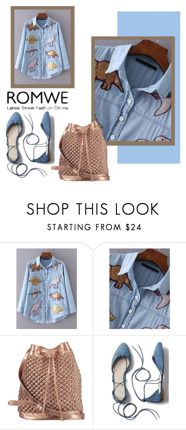 """ROMWE"" by salam-cdxxi ❤ liked on Polyvore featuring nooki design and Gap"