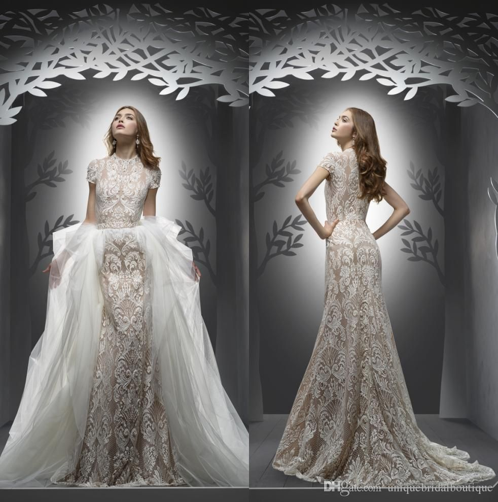 Mermaid Wedding Dresses 2017 Ersa Atelier with Detachable Tulle ...