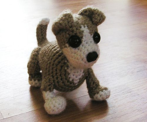 Cute dog - amigurumi crochet free pattern - with some fuzz it could be Milo!