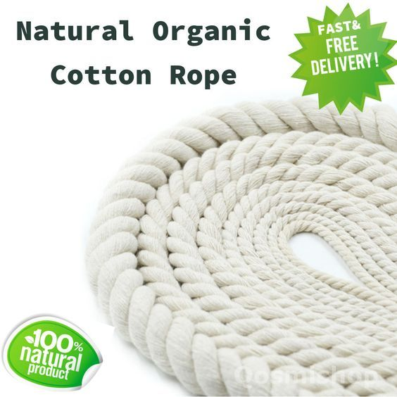 Details about Organic COTTON ROPE Twine Bag Handle, Decor