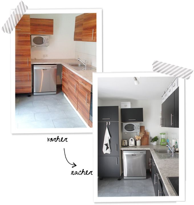 Klitzekleine Küchentour \ 5 Tipps wie ich meine verschönert habe - küche eiche rustikal verschönern