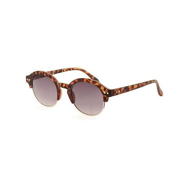 ef07dc8aec1 Old Navy Womens Round Half Frame Sunglasses ( 12) ❤ liked on Polyvore  featuring accessories