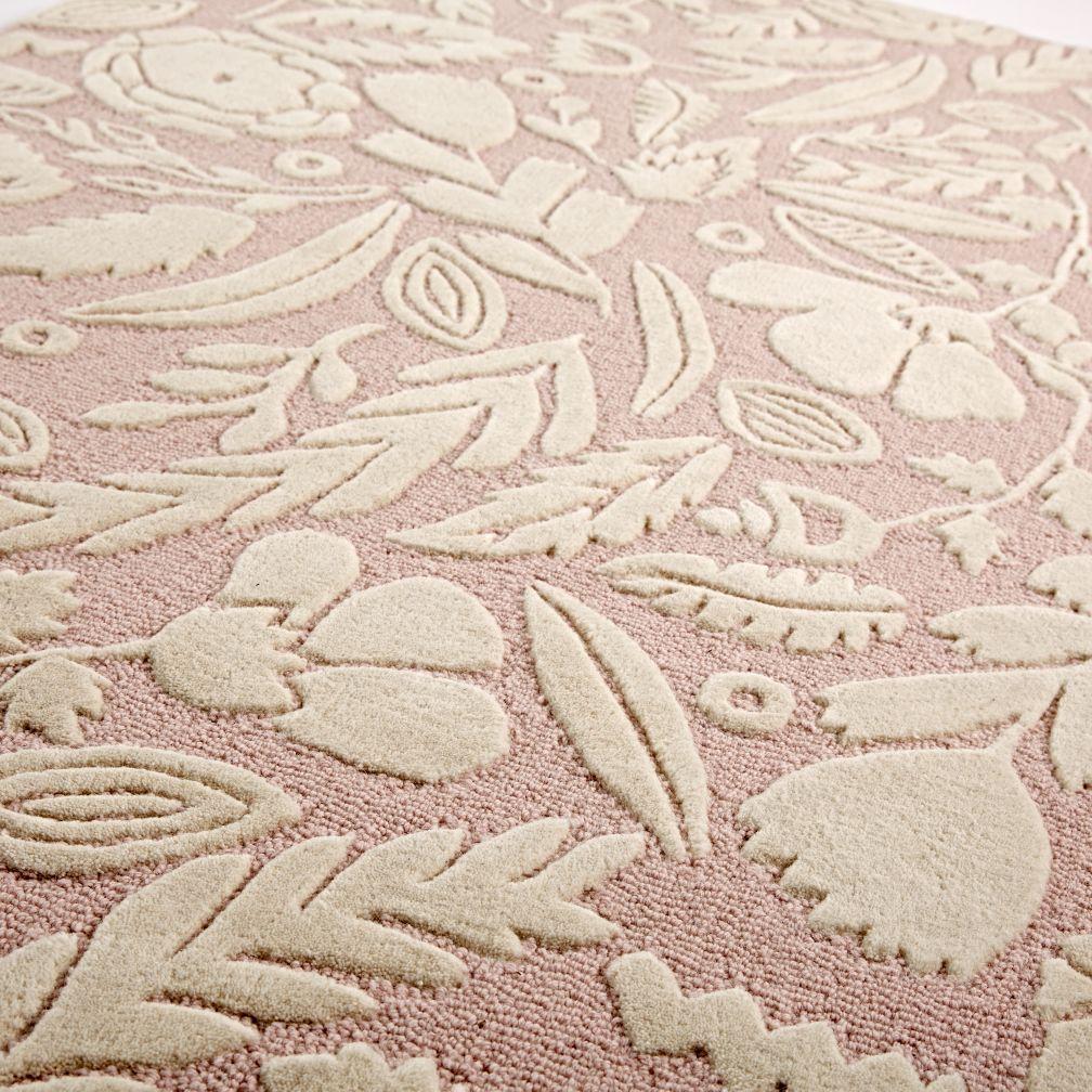 Pink Forest Floor Kids Rug The Land Of Nod
