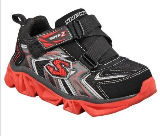 e2396e95cd14 New Skechers Toddler Boys Velcro Z Strap Athletic Shoes Black Red Size 5 M   SKECHERS  Athletic