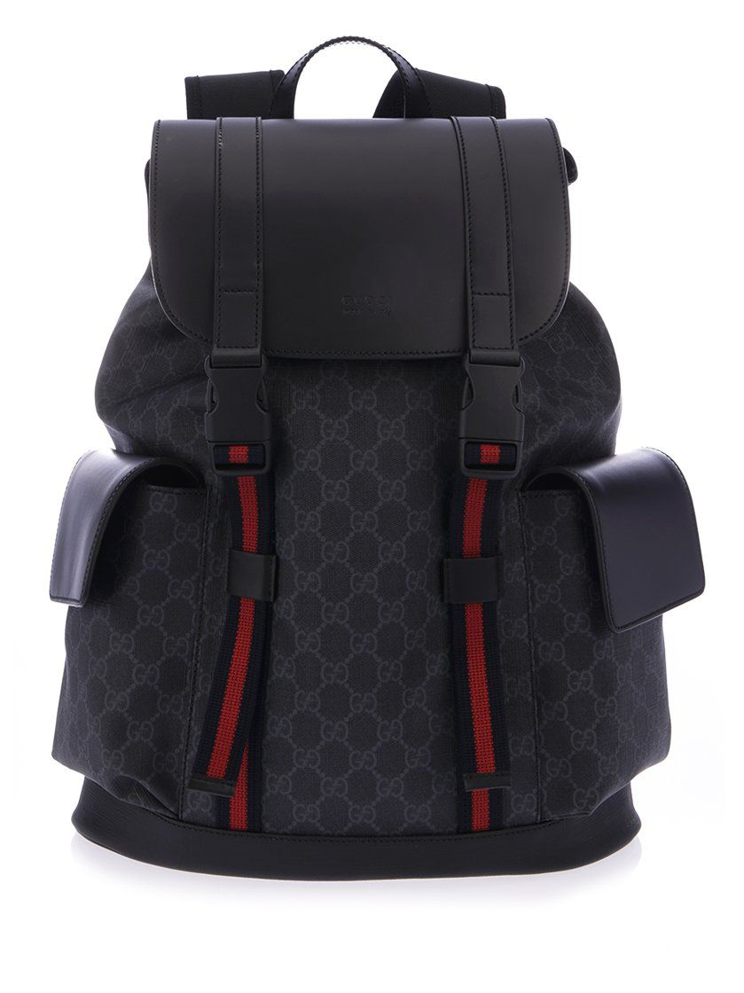 975a47597d9d GUCCI GUCCI STRIPE GG SUPREME BACKPACK.  gucci  bags  leather  nylon   backpacks