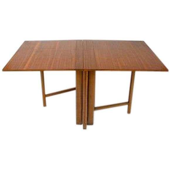 Maria Drop Leaf Teak Dining Table By Bruno Mathsson Teak Dining Table Dining Table Dining Table Marble