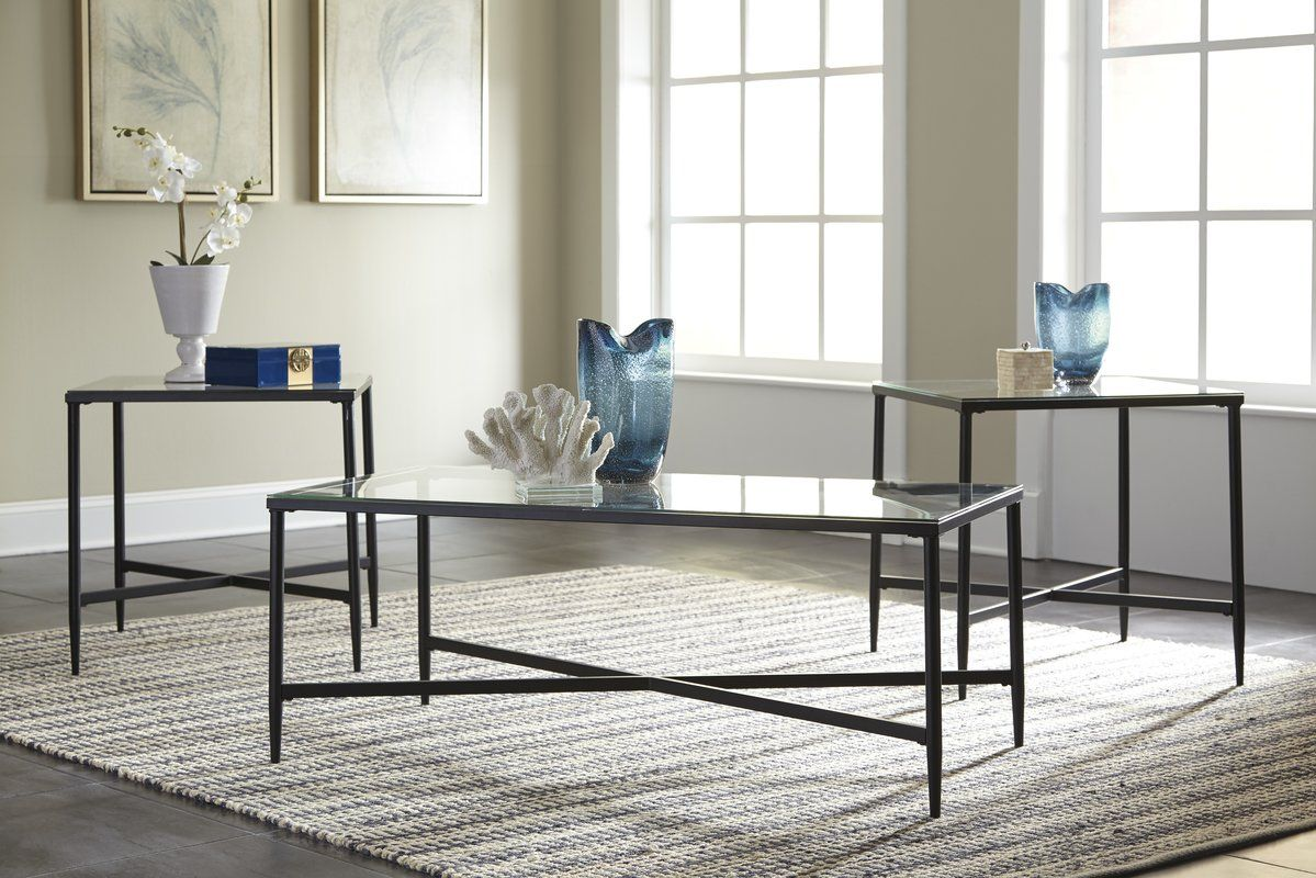 Melanie 3 Piece Coffee Table Set Nesting 3 Piece Coffee Table