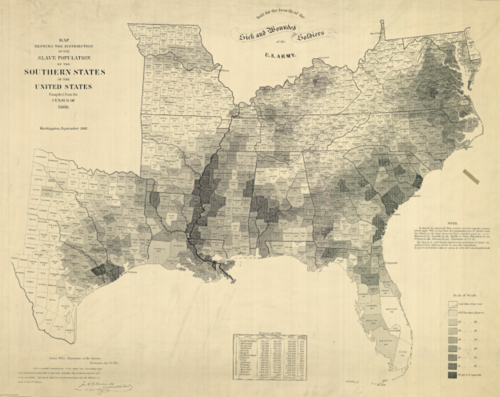 The Moral Map of the United States 1854 and other Maps of Slavery