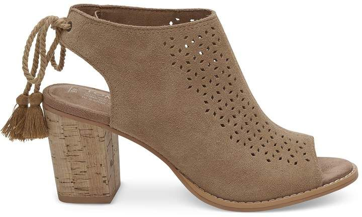 543d943b8686 Hello Spring!  opentoe  nude TOMS Toffee Perforated Suede Women s ...