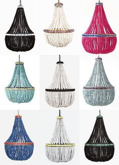 ... beaded chandeliers from marjorie skouras