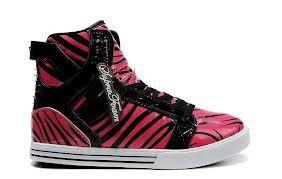 pink zebra high tops