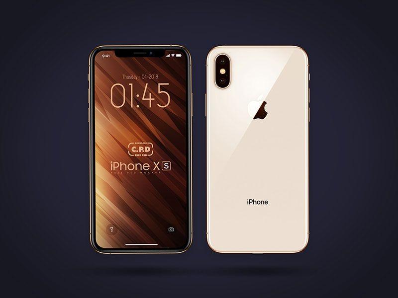 Iphone Xs Front Back Mockup Free Psd Mockup Free Psd Iphone Mockup Free Mockup