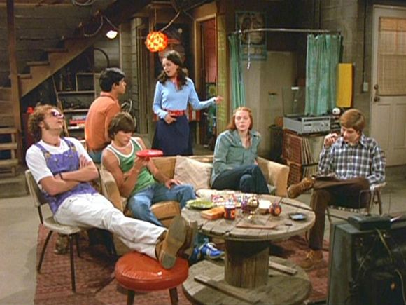 That 70's show basement - this kind of basement could be a good location for the litter box